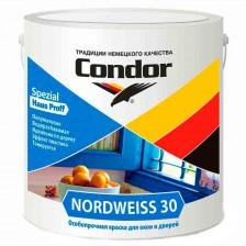 Краска акриловая полуматовая для окон и дверей CONDOR Nordweiss 30 (3кг)