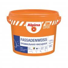 Краска ALPINA Expert Fassadenweiss акриловая прозрачная 9,4л/13,4кг