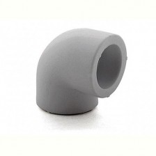 Колено ПП 25*90 серый РосТурПласт арт.11032