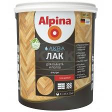 Лак акриловый шелковисто-матовый ALPINA Аква Лак для паркета и полов 2,5л
