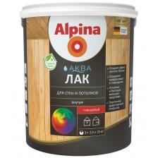 Лак акриловый шелковисто-матовый ALPINA Аква Лак для стен и потолков 0,9л