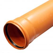 Труба канализационная наружная ПВХ 160х1000 SN2