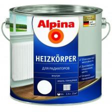 Эмаль алкидная ALPINA Heizkoerper для радиаторов белая 750мл/0,855кг