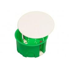 Коробка распределительная HEGEL 80*45 для гипсокартона с крышкой КР1202