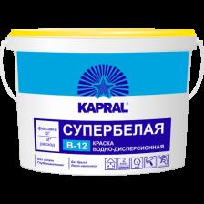 Краска ВД супербелая KAPRAL В-12 15кг