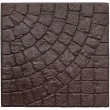 Плиты бетонные для тротуаров без обработки Бавария коричневая прямая 40*40*5см