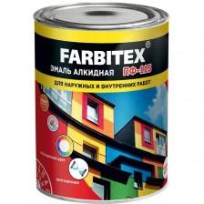 Эмаль алкидная FARBITEX ПФ-115 черная 0,8кг