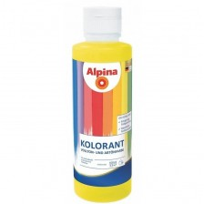 Краска акриловая EXL ALPINA KOLORANT Gelb 500мл/0,675кг (желтая)