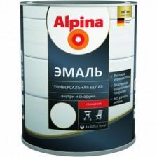Эмаль алкидная ALPINA универсальная белая глянцевая 2,5л
