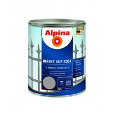 Эмаль по ржавчине ALPINA 3 в 1 шелковисто-матовая, цветная RAL9023 (серая) 0,75л