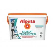 Краска ALPINA Expert Fassaden-Silikat акрилово-силикатная белая 10л/14,6кг