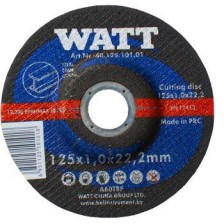 Круг отрезной 125х2,5х22,2 для металла, WATT Арт:40.125.251.01