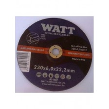 Круг обдирочный 230х6,0х22,2 для нержавеющей стали, WATT Арт:40.230.602.01
