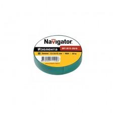 Изолента Navigator NIT-15-20/G зеленая