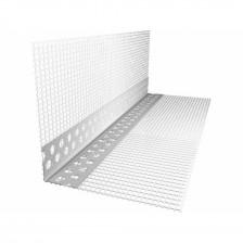 Угол перфорированый ПВХ с сеткой 100/150 (2500мм)