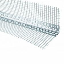 Угол перфорированый ПВХ с сеткой 70/70 (2500мм)