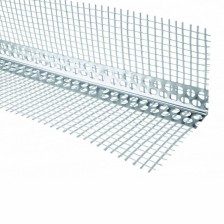 Угол перфорированый ПВХ с сеткой 70/70 (3000мм)