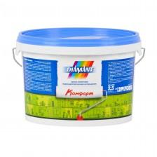 Краска DIAMANT Комфорт акриловая белая 2,5л/3,6кг