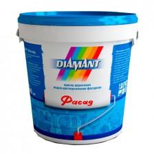 Краска DIAMANT Фасад акриловая белая 0,9л/1,4кг