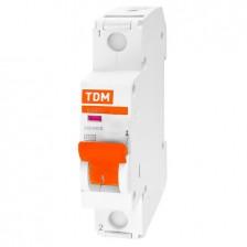 Автоматический выключатель TDM ВА47-29 1Р 20А 4,5кА х-ка С арт. SQ0206-0075