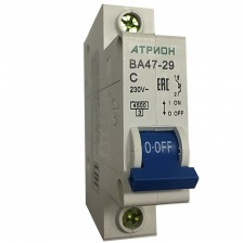 Автоматический выключатель АТРИОН ВА47-29 1P 40A хар. С