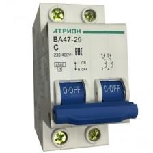 Автоматический выключатель АТРИОН ВА47-29 2P 50A хар. С