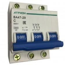Автоматический выключатель АТРИОН ВА47-29 3P 20A хар. С