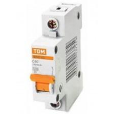 Автоматический выключатель TDM ВА47-63 1P 40A 4,5кА хар. С
