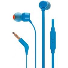 Наушники-гарнитура JBL T110 (синий)