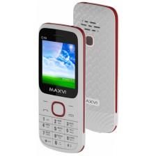 Мобильный телефон Maxvi C15 (белый/красный)
