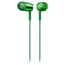 Наушники-гарнитура Sony MDR-EX155APG (зеленый)