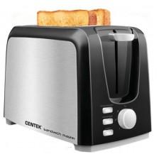 Тостер Centek СТ-1429 (черный/серебристый)