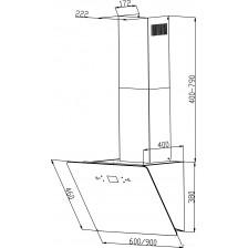 Вытяжка декоративная Backer AH60E-MC-F1 Black 12K